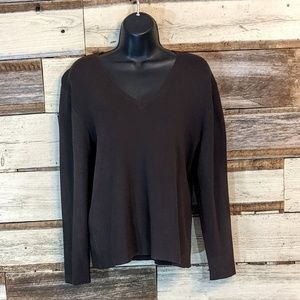 Chico's Sweaters - Chico's Coffee Brown V Neck Sweater sz 2